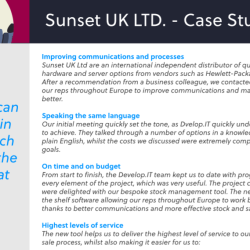 Sunset Case Study
